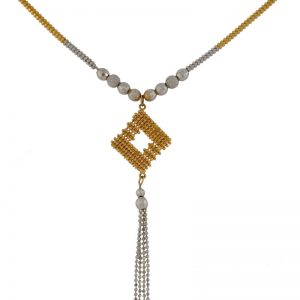 22k Two Tone Necklace