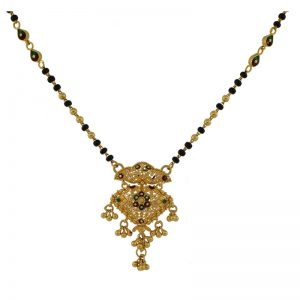 22k Mangalsutra With Flower Detail