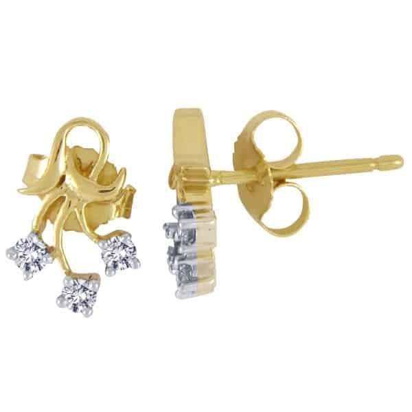jewellers perth earrings gold with diamonds