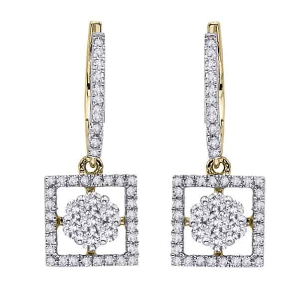 goald and diamond earrings perth