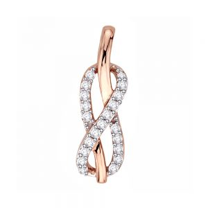 18k Twist Style Diamond Pendant