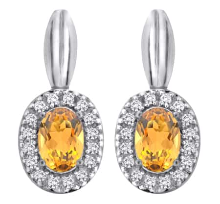 drop yellow topaz earrings