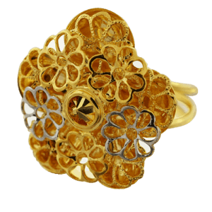 22KT multiple flower design ring