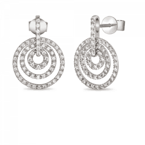 8ct Gold Pave Sst Diamond Earrings