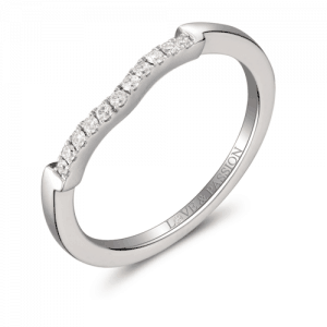 white gold pave set diamond wedder