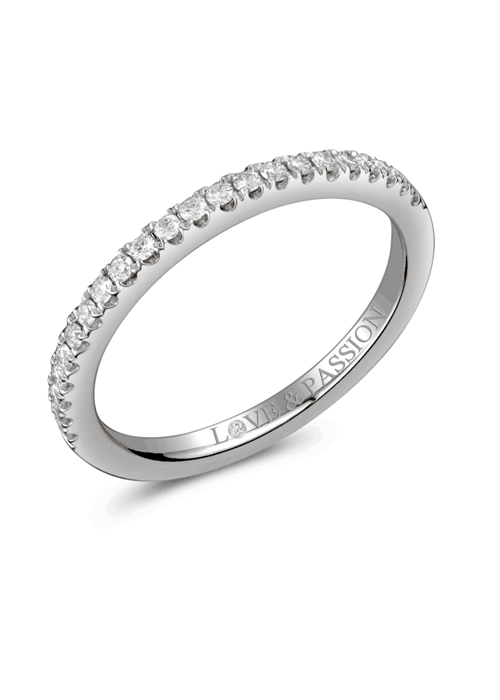 diamond set love and passion ring