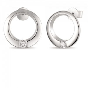 Diamond earrings with brilliant cut diamond in each