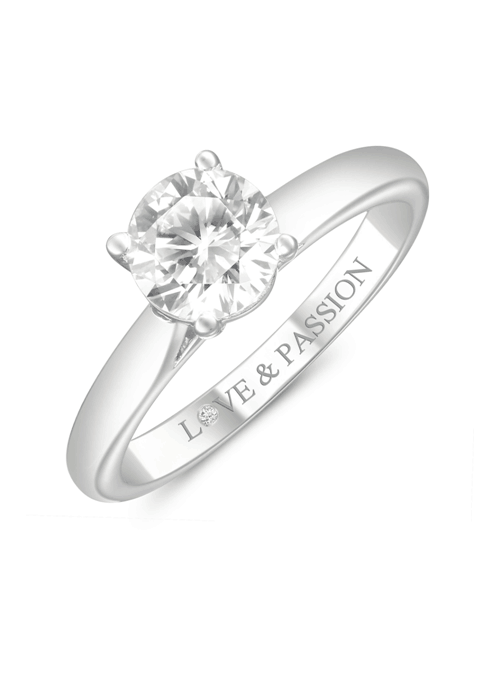 love and passion round diamond ring