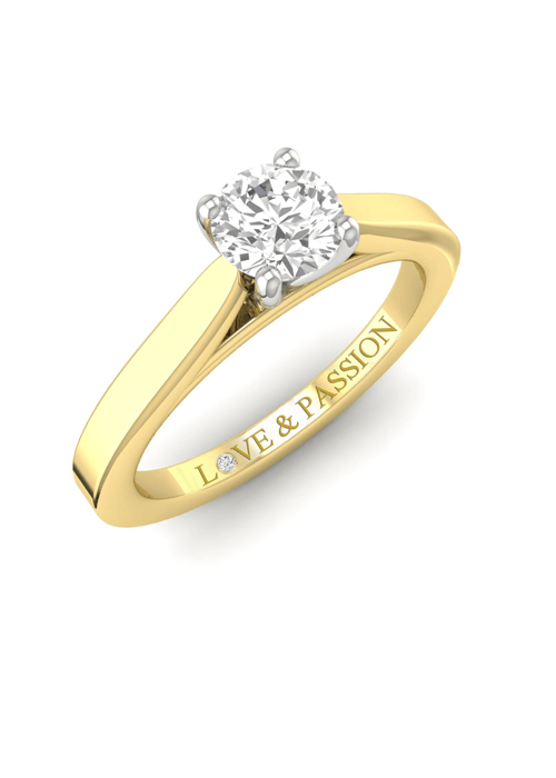 diamond gold ring