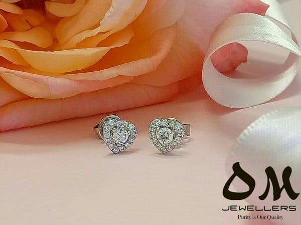 heart shape diamond earrings jewellery