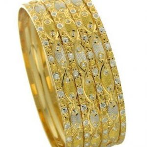 gold full bangle diamond