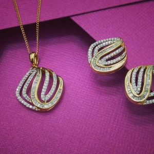 diamond and gold pendants