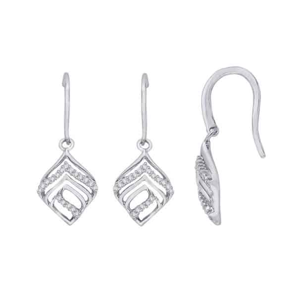 18k Diamond Earrings jewellery designers perth