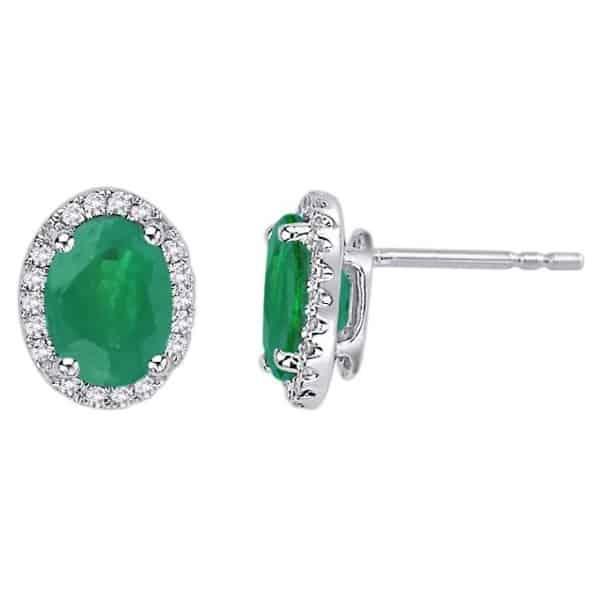 18k Emerald and Diamond Earring jewellery shops perth