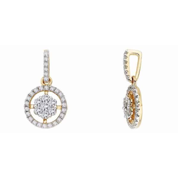 18k Single Halo Cluster Diamond Pendant jewellers perth