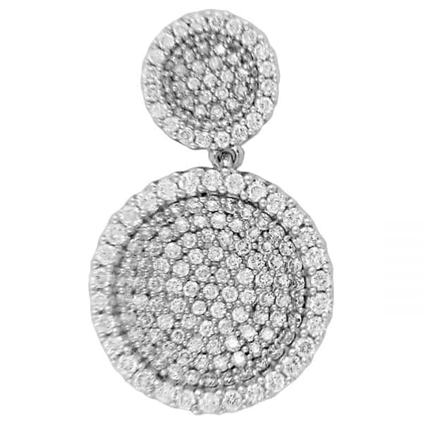 18 Circle Design Cluster Diamond Pendant jewellery online