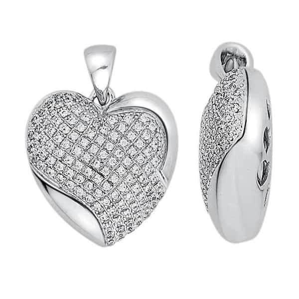 18k Heart Diamond Pendant jewellery shops perth