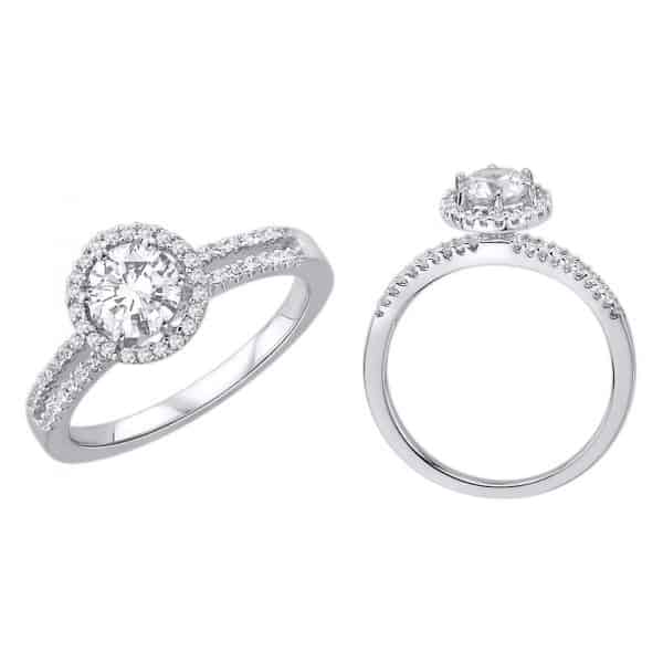 18k Halo Diamond Engagement Ring jewellery stores perth