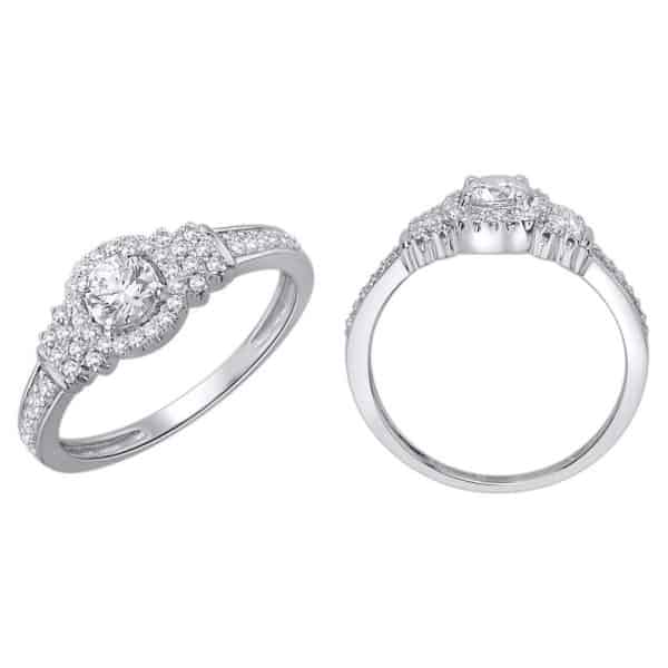 18k Halo Detailed Diamond Engagement Ring jewellery stores perth