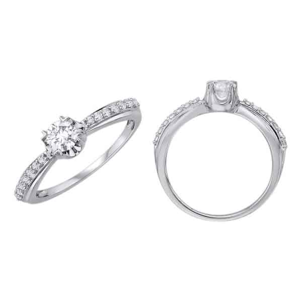 18k Shoulder Diamond Engagement Ring jewellery stores perth