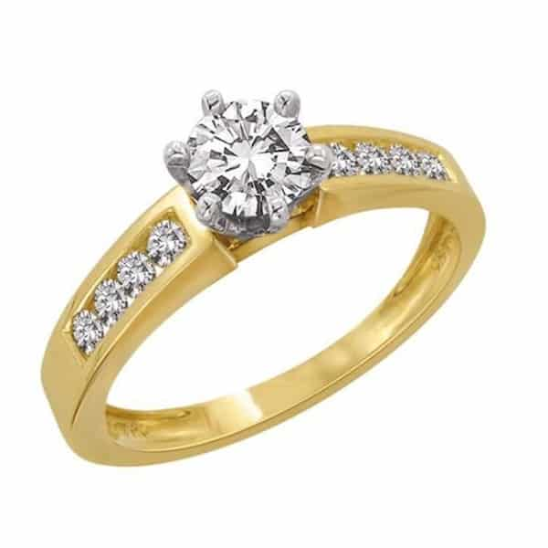 18k Side Detail Diamond Engagement Ring jewellery stores perth
