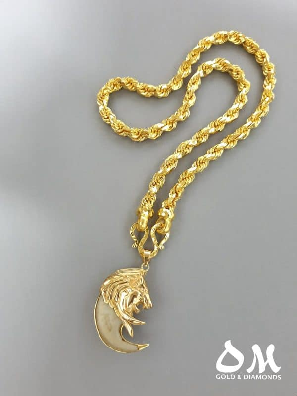 24kt 300g Rope Chain & 22kt 34g Lion Claw Pendant jewellery stores perth