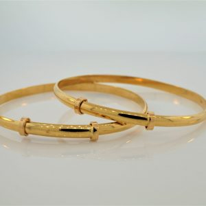 22k Adjustable Baby Bangles jewellers perth