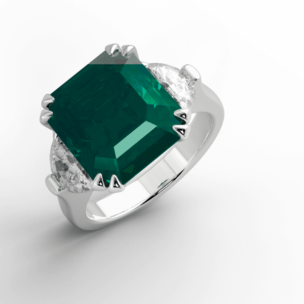 Columbian Emerald and Diamond ring in Platinum jewellery online