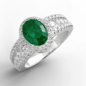18K Emerald and Diamond ring jewellery shops perth