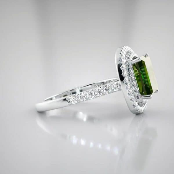 jewellery stores perth 18K Square Tourmaline and Diamond ring