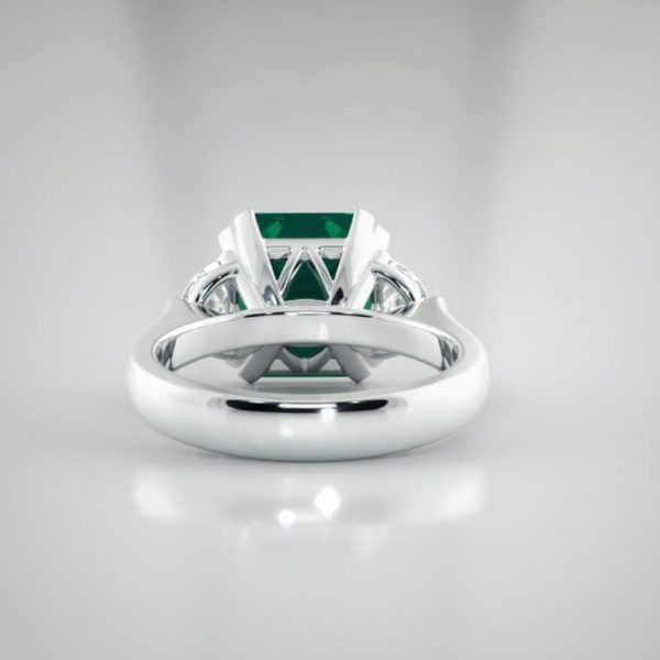 Columbian Emerald and Diamond ring in Platinum engagement rings