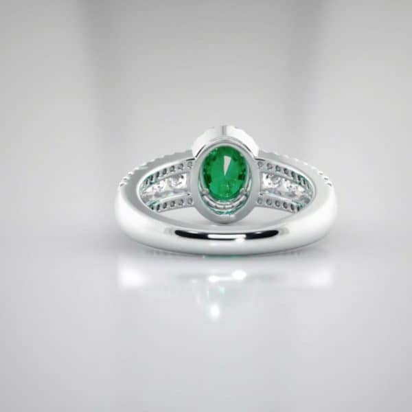 custom jewellery perth 18K Emerald and Diamond ring