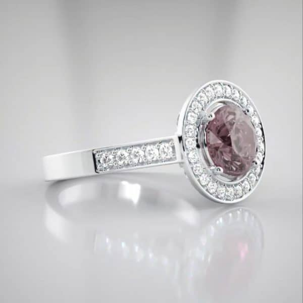 best jewellers perth 18K Pink sapphire and diamond ring