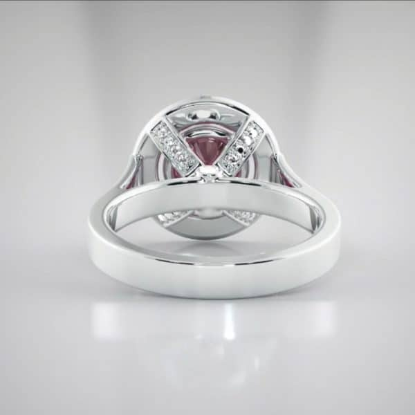 18K Pink sapphire and diamond ring jewellery shops perth