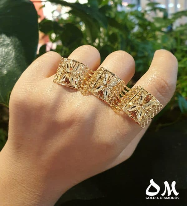 22k 3 in 1 Chain Ring jewellers perth