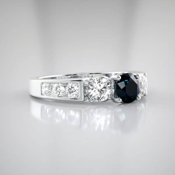 18k Sapphire and Diamond Ring unique engagement rings