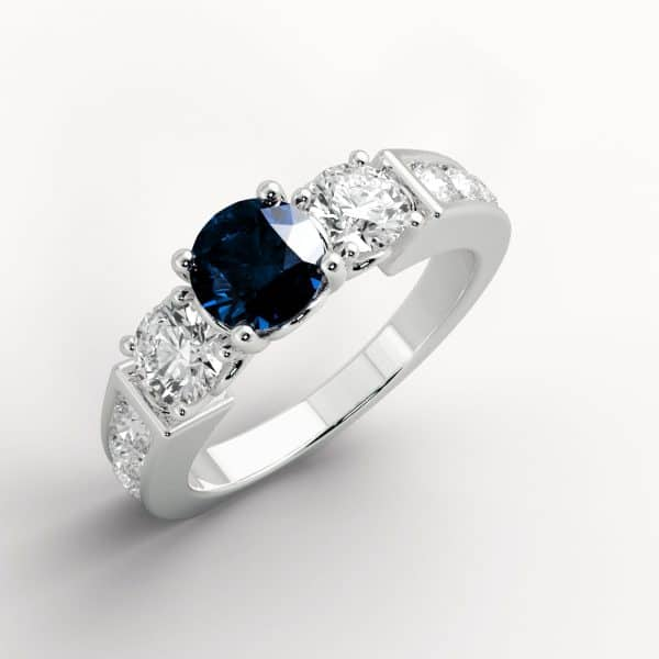 jewellery shops perth 18k Sapphire and Diamond Ring