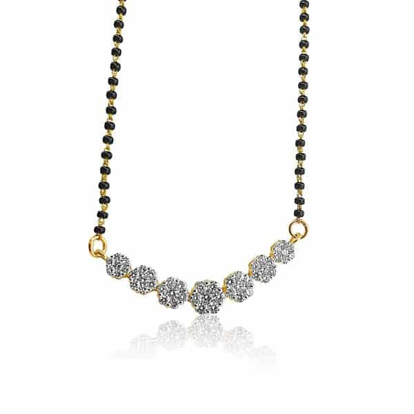 18k Floral Detail Drop Diamond Mangalsutra 9.67g indian jewellery perth