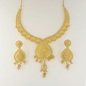 22k Fancy Detailed Drop Design Set indian jewellery perth