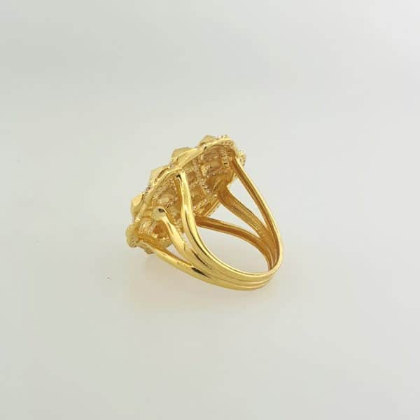 22k CZ Quilt Design Fancy Ring indian jewellery perth