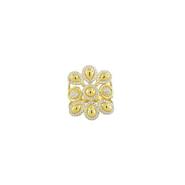 22k CZ Tear Drop Floral Design Dress Ring for sale jewellery store perth