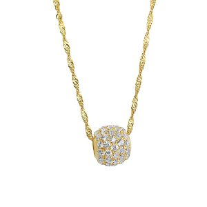 22k Cubic Zirconia Ball Pendant for sale jewellery store perth