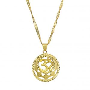 22k OM Round Pendant for sale jewellery store perth
