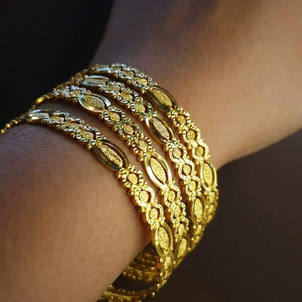 indian jewellery perth 22k Patterned Bangles 16.9g