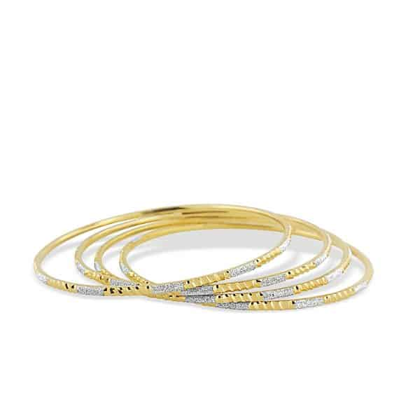 22k Patterned Bangles 16.9g gold jewellery perth