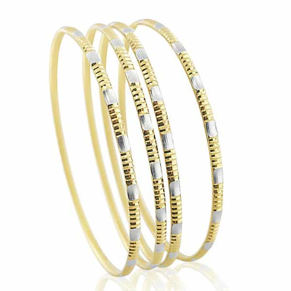 gold jewellery 22k Patterned Bangles 16.9g