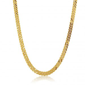 22k Diamond Cut Curb Link Mens Chain 50g gold jewellery