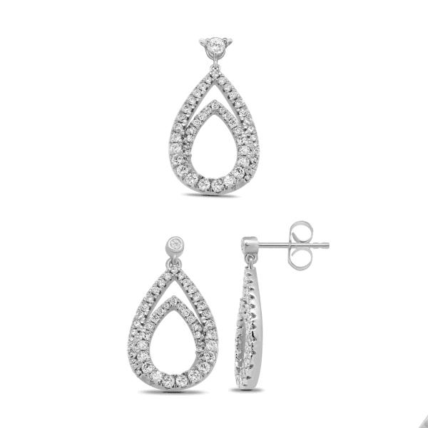 18k Diamond Teardrop Jewellery Set 11.22g