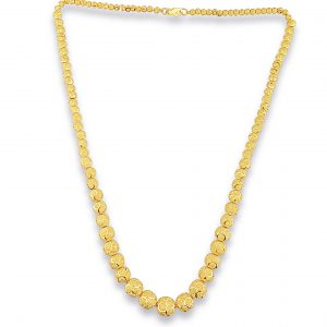 22k White Gold Ball Chain Necklace