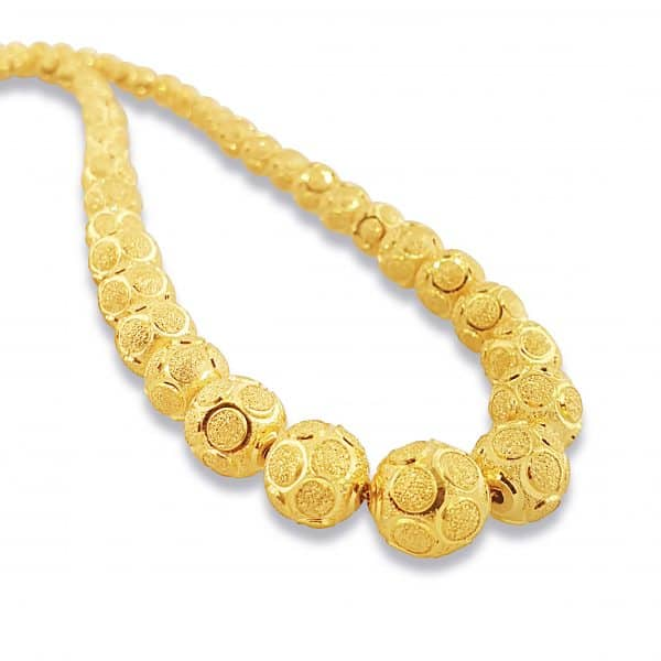 22k Gold Ball Chain Necklace 38g